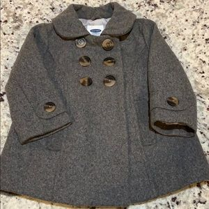 Old Navy girl's size 12-18m wool pea coat